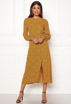 New Look Floral Split Mid Dress Yellow Pattern Bubbleroom.no