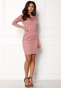 New Look Go Floral Lace Bodycon Shell Pink Bubbleroom.no