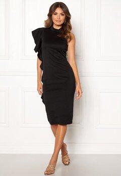 New Look Go Frill Bodycon Dress Black Bubbleroom.no