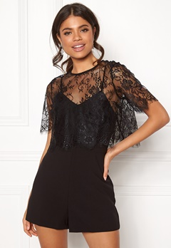 New Look Go Georgia Lace Playsuit Black Bubbleroom.no