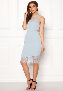 New Look Go Jen Lace Bodycon Dress Pale Blue Bubbleroom.no