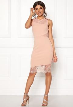 New Look Go Jen Lace Bodycon Dress Shell Pink Bubbleroom.no