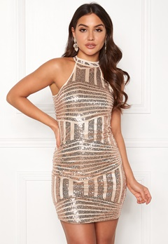 New Look Go Sequin Bodycon Dress Metal Bubbleroom.no