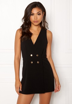 New Look Go Sleeveles Tux Playsuit Black Bubbleroom.no