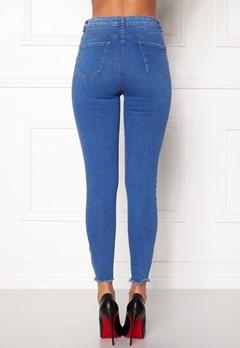 New Look HW Skinny Rip Jeans Duck Egg Bubbleroom.no