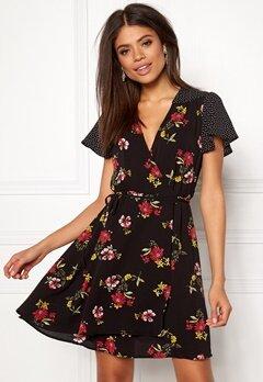 New Look Kennie Dress Black Pattern Bubbleroom.no
