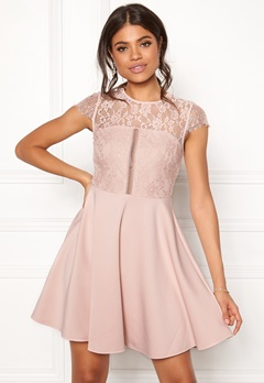 New Look Lace 2 in1 Detail Dress Shell Pink Bubbleroom.no