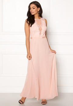 New Look Lace Chiffon Maxi Dress Pink Bubbleroom.no