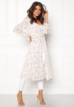 New Look Lurex Lace Up Kaftan White Pattern Bubbleroom.no