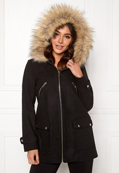 New Look Madison Duffle Jacket Black Bubbleroom.no