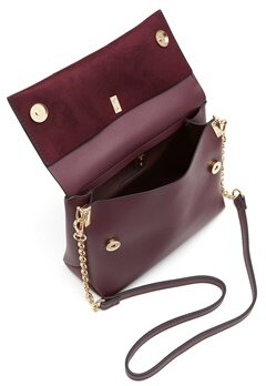 New Look Matilda Metal Handle Bag Dark Burgundy Bubbleroom.no