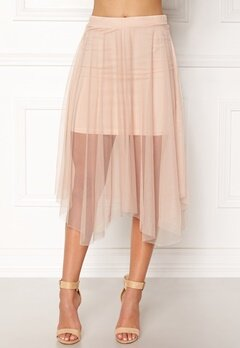 New Look Mesh Hanky Skirt Shell Pink Bubbleroom.no
