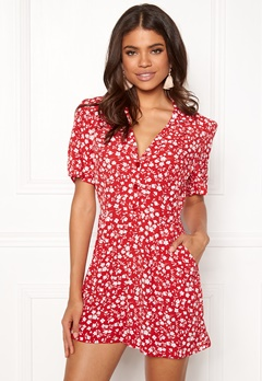 New Look Mi Ditsy playsuit red Pattern Bubbleroom.no