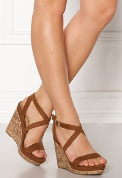 New Look Oiler Wedge Sandal Tan Bubbleroom.no