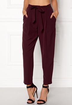 New Look Olivia Tie Waist Trouser Burgundy Bubbleroom.no