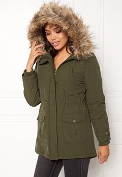 New Look Parka Parka Khaki Bubbleroom.no