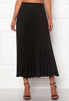 New Look Plain Pleated Midi Skirt Black Bubbleroom.no