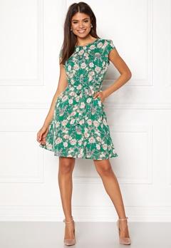 New Look Print Chiffon Dress Green Pattern Bubbleroom.no