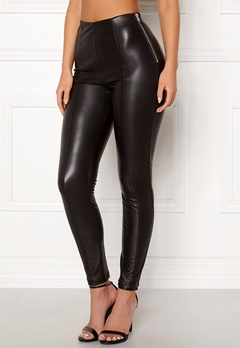New Look PU Leggings Black Bubbleroom.no