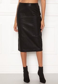 New Look PU Pencil Skirt Black Bubbleroom.no