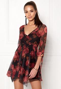 New Look Reese Mesh Dress Black Pattern Bubbleroom.no