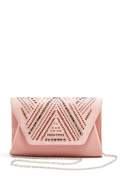 New Look Rita Structure Clutch Sheel Pink Bubbleroom.no