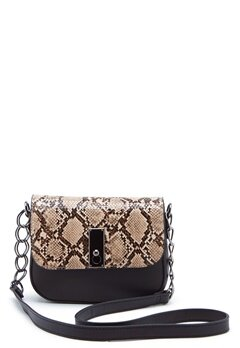 New Look Samira Snake Saddle Bag Black Pattern Bubbleroom.no