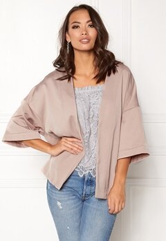 New Look Satin Kimono Jacket Shell Pink Bubbleroom.no