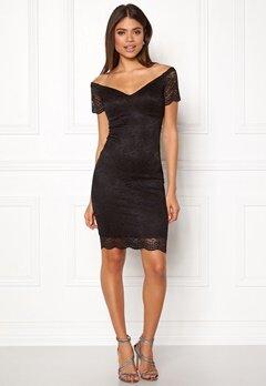 New Look Scallop Bardot Midi Dress Black Bubbleroom.no