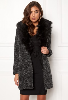 New Look Shawl Fake Fur Jacket Black Bubbleroom.no
