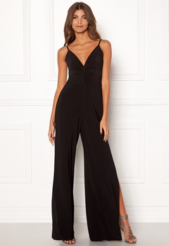 New Look Slinky Twist Jumpsuit Black Bubbleroom.no
