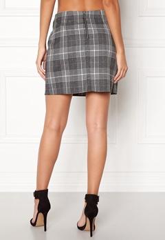 New Look Sparkle Check Mini Skirt Light Grey Bubbleroom.no