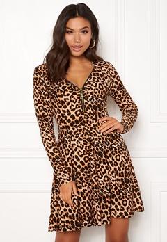 New Look T Max Animal Swing Dress Brown Pattern Bubbleroom.no