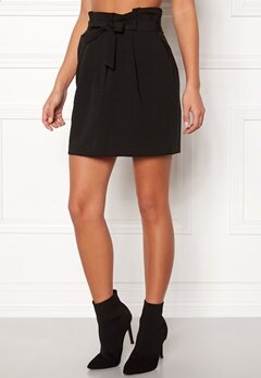 New Look Tie Waist Mini Skirt Black Bubbleroom.no