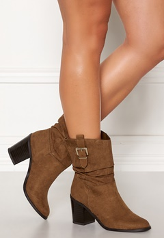 New Look Western Mid Calf Boots Tan Bubbleroom.no