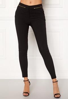 New Look Zip Bengaline Leggings Black Bubbleroom.no