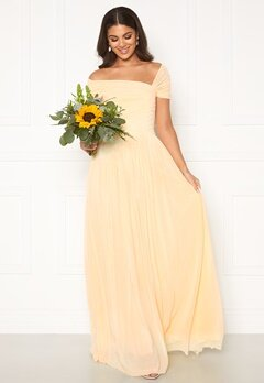Nicole Falciani X Bubbleroom Nicole Falciani Mesh Gown Yellow Bubbleroom.no