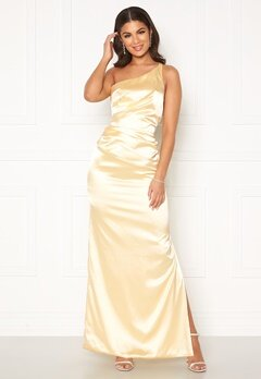 Nicole Falciani X Bubbleroom Nicole Falciani Pleat Gown Yellow Bubbleroom.no