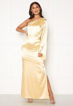 Nicole Falciani X Bubbleroom Nicole Falciani Satin Gown Gold-coloured Bubbleroom.no