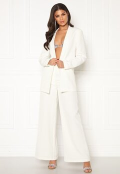 Nicole Falciani X Bubbleroom Nicole Falciani Suit Pants White Bubbleroom.no