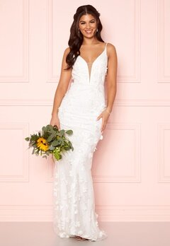 Nicole Falciani X Bubbleroom Nicole Falciani Wedding Gown White Bubbleroom.no