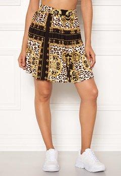 Rut & Circle Nicole Pleated Skirt Yellow Print Bubbleroom.no