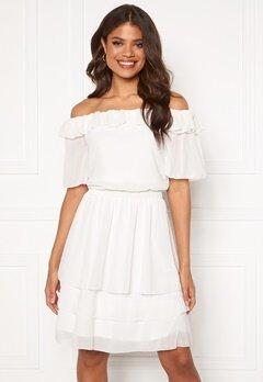Sisters Point Nicoline Off Dress 115 Cream Bubbleroom.no