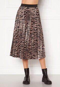 VILA Nitban Print Skirt Nomad Zebra Bubbleroom.no