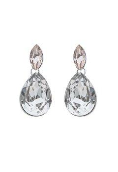 SNÖ of Sweden Noemi Small Drop Earrings Silver/Mix5 Bubbleroom.no