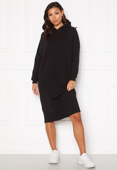 Noisy May Helene L/S Sweat Dress Black Bubbleroom.no