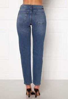 Noisy May Jenna NW Straight Jeans Medium Blue Denim Bubbleroom.no