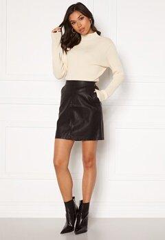 Noisy May Kelly NW PU Skirt Black Bubbleroom.no