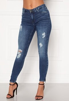 Noisy May Kimmy NW Ankle Jeans Medium Blue Denim Bubbleroom.no
