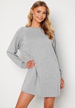Noisy May Lupa L/S Sweat Dress Ligth Grey Melange Bubbleroom.no